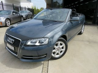 2011 Audi A3 8P MY12 1.8 TFSI Attraction Meteorite Grey 7 Speed Auto Direct Shift Cabriolet.