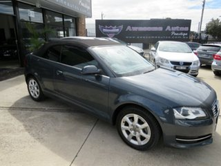 2011 Audi A3 8P MY12 1.8 TFSI Attraction Meteorite Grey 7 Speed Auto Direct Shift Cabriolet