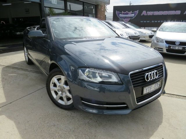 Used Audi A3 8P MY12 1.8 TFSI Attraction, 2011 Audi A3 8P MY12 1.8 TFSI Attraction Meteorite Grey 7 Speed Auto Direct Shift Cabriolet