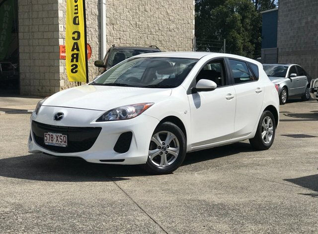 Used Mazda 3 BL10F2 MY13 Maxx Activematic Sport, 2013 Mazda 3 BL10F2 MY13 Maxx Activematic Sport White 5 Speed Sports Automatic Hatchback