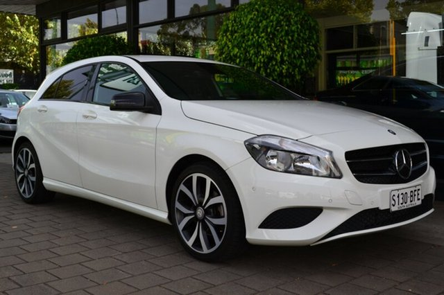 Used Mercedes-Benz A180 W176 805+055MY D-CT, 2015 Mercedes-Benz A180 W176 805+055MY D-CT White 7 Speed Sports Automatic Dual Clutch Hatchback