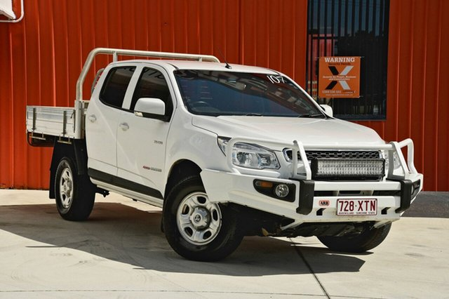 Used Holden Colorado RG MY14 LX Crew Cab, 2014 Holden Colorado RG MY14 LX Crew Cab White 6 Speed Sports Automatic Cab Chassis