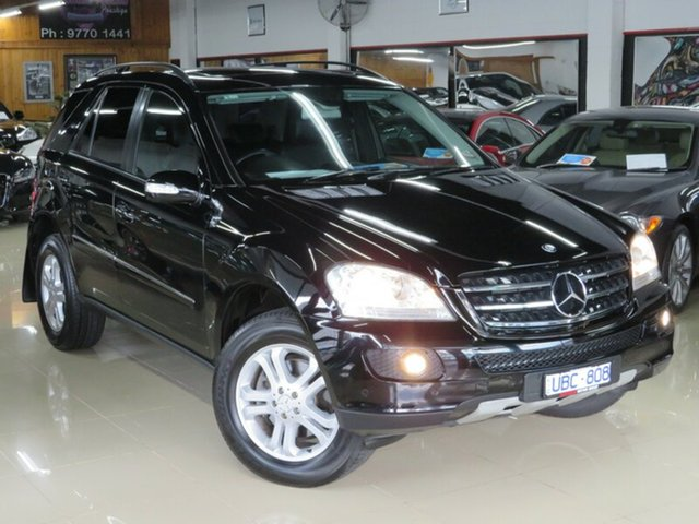 Used Mercedes-Benz ML W164 350 Luxury (4x4), 2006 Mercedes-Benz ML W164 350 Luxury (4x4) Black Crystal 7 Speed Automatic G-Tronic Wagon