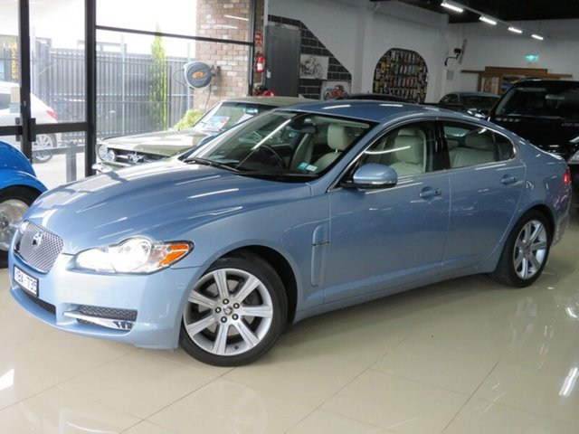 Used Jaguar XF MY10 3.0 V6 Luxury, 2010 Jaguar XF MY10 3.0 V6 Luxury Frost Blue 6 Speed Automatic Sedan