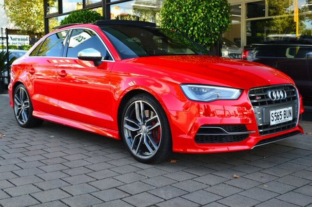 Used Audi S3 8V MY15 S tronic quattro, 2014 Audi S3 8V MY15 S tronic quattro Red 6 Speed Sports Automatic Dual Clutch Sedan