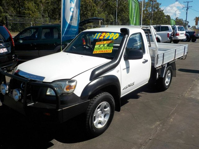 Used Mazda BT-50 08 Upgrade B3000 DX (4x4), 2008 Mazda BT-50 08 Upgrade B3000 DX (4x4) White 5 Speed Manual Dual Cab Chassis