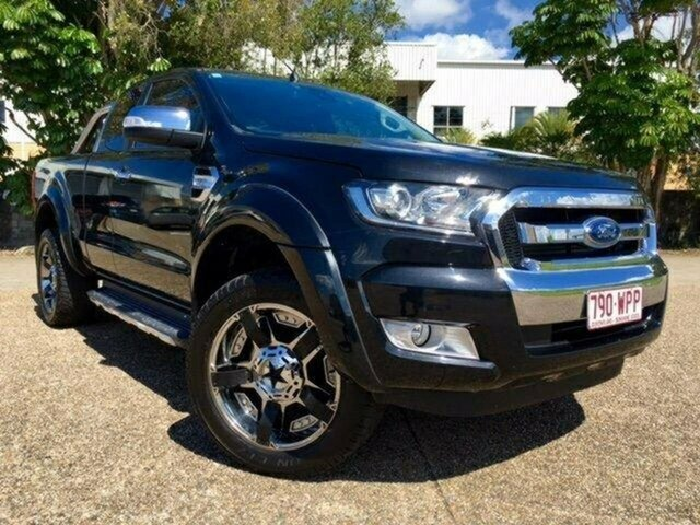 Used Ford Ranger PX MkII XLT Super Cab, 2016 Ford Ranger PX MkII XLT Super Cab Black 6 Speed Manual Utility