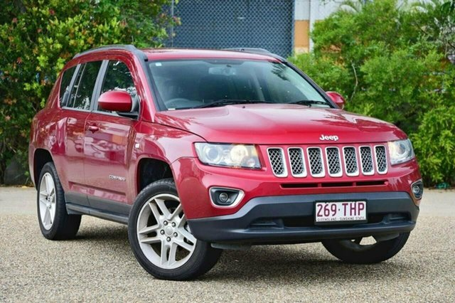 Used Jeep Compass MK MY13 Limited CVT Auto Stick, 2013 Jeep Compass MK MY13 Limited CVT Auto Stick Red 6 Speed Constant Variable Wagon
