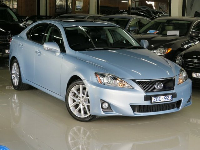 Used Lexus IS250 GSE20R MY11 Sports Luxury, 2012 Lexus IS250 GSE20R MY11 Sports Luxury Frost Blue 6 Speed Auto Sequential Sedan