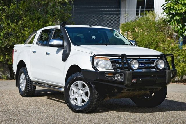 Used Ford Ranger PX XLT Double Cab, 2013 Ford Ranger PX XLT Double Cab White 6 Speed Sports Automatic Utility