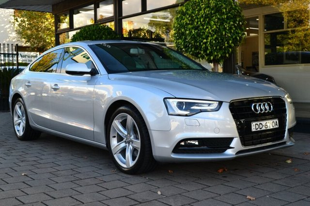 Used Audi A5 8T MY12 Sportback Multitronic, 2012 Audi A5 8T MY12 Sportback Multitronic Silver Metallic 8 Speed Constant Variable Hatchback