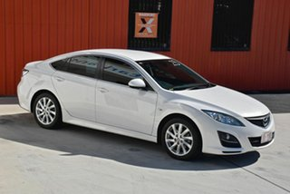 2010 Mazda 6 GH1052 MY10 Classic White 5 Speed Sports Automatic Hatchback