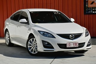 2010 Mazda 6 GH1052 MY10 Classic White 5 Speed Sports Automatic Hatchback.