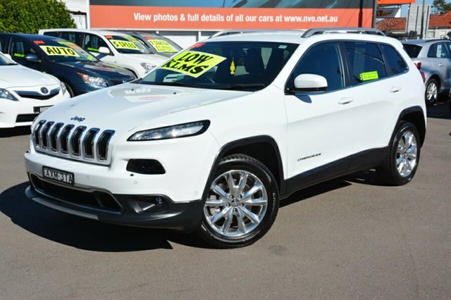 Used Jeep Cherokee KL MY15 Limited, 2014 Jeep Cherokee KL MY15 Limited White 9 Speed Sports Automatic Wagon