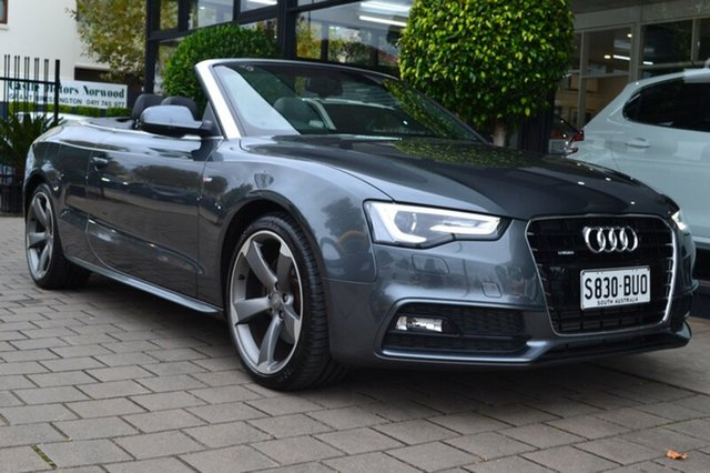 Used Audi A5 8T MY15 S tronic quattro, 2014 Audi A5 8T MY15 S tronic quattro Grey 7 Speed Sports Automatic Dual Clutch Cabriolet