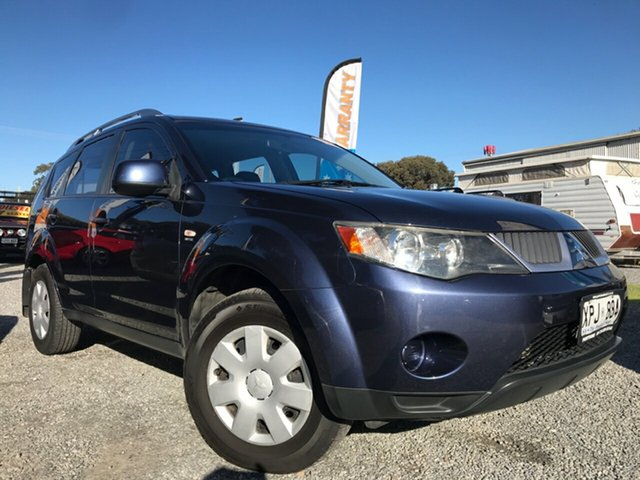 Used Mitsubishi Outlander ZG MY07 XLS, 2007 Mitsubishi Outlander ZG MY07 XLS Blue 6 Speed Constant Variable Wagon