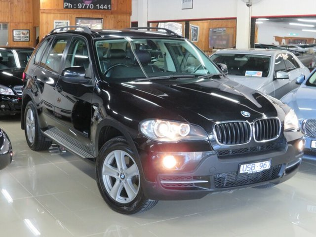 Used BMW X5 E70 3.0D, 2007 BMW X5 E70 3.0D Black Crystal 6 Speed Auto Steptronic Wagon