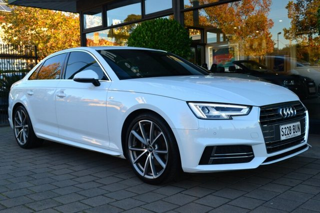 Used Audi A4 B9 F4 MY17 Sport S tronic, 2016 Audi A4 B9 F4 MY17 Sport S tronic White 7 Speed Sports Automatic Dual Clutch Sedan