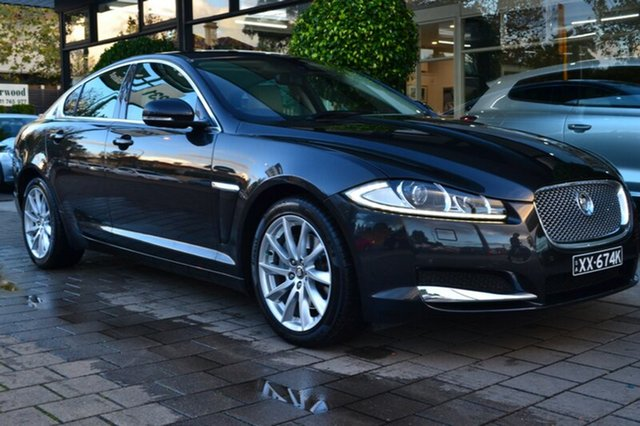 Used Jaguar XF X250 MY13 Luxury, 2012 Jaguar XF X250 MY13 Luxury Stratus Grey 8 Speed Sports Automatic Sedan