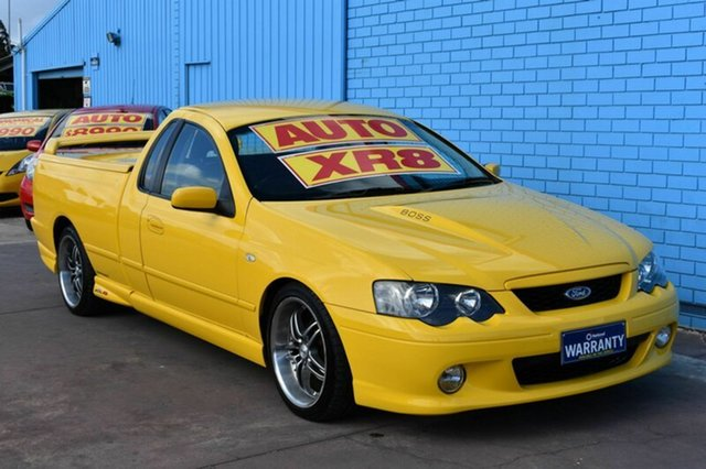 Used Ford Falcon BA Mk II XR8 Magnet Ute Super Cab, 2005 Ford Falcon BA Mk II XR8 Magnet Ute Super Cab Yellow 4 Speed Sports Automatic Utility