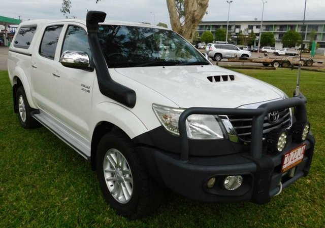 Used Toyota Hilux KUN26R MY12 SR5 Double Cab, 2013 Toyota Hilux KUN26R MY12 SR5 Double Cab White 4 Speed Automatic Utility