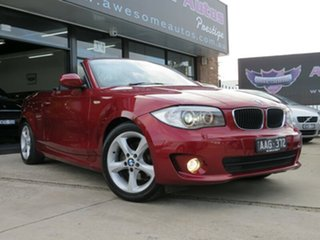 2013 BMW 118d E88 MY13 Update Maroon & Gunmetal 6 Speed Automatic Convertible.