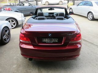 2013 BMW 118d E88 MY13 Update Maroon & Gunmetal 6 Speed Automatic Convertible