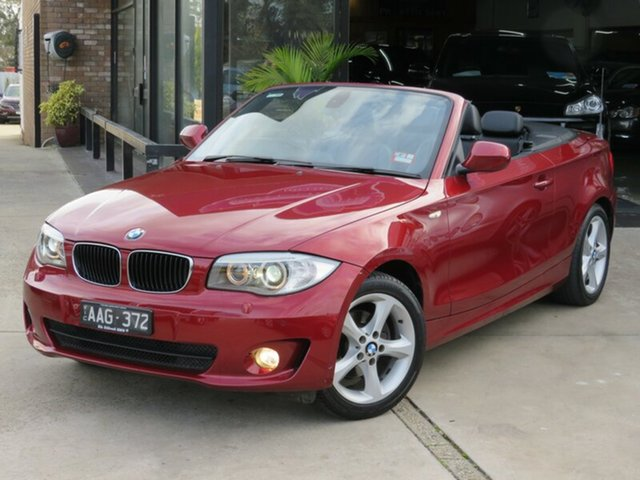 Used BMW 118d E88 MY13 Update , 2013 BMW 118d E88 MY13 Update Maroon & Gunmetal 6 Speed Automatic Convertible