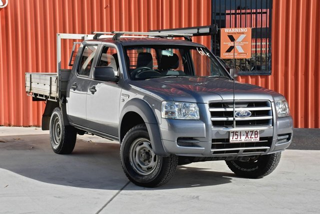 Used Ford Ranger PJ XL Crew Cab, 2007 Ford Ranger PJ XL Crew Cab Grey 5 Speed Manual Cab Chassis