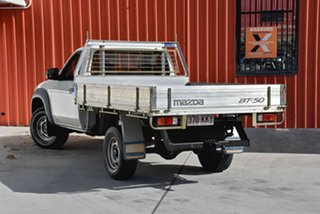 2007 Mazda BT-50 UNY0E3 DX White 5 Speed Manual Cab Chassis.