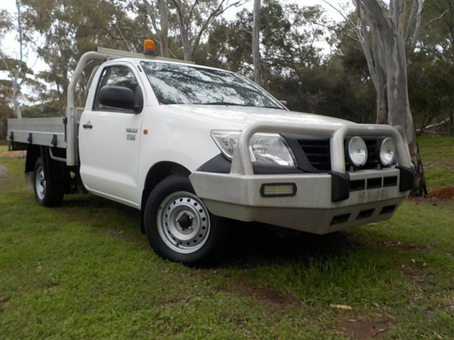 Used Toyota Hilux TGN16R MY12 Workmate, 2012 Toyota Hilux TGN16R MY12 Workmate 5 Speed Manual Cab Chassis