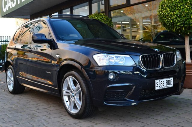 Used BMW X3 F25 MY1011 xDrive20d Steptronic, 2012 BMW X3 F25 MY1011 xDrive20d Steptronic Dark Blue 8 Speed Automatic Wagon