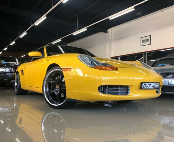 Used Porsche Boxster  , 2000 Porsche Boxster Canary Yellow 5 Speed Tiptronic Roadster
