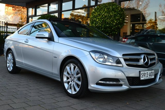 Used Mercedes-Benz C180 C204 BlueEFFICIENCY 7G-Tronic +, 2011 Mercedes-Benz C180 C204 BlueEFFICIENCY 7G-Tronic + Silver 7 Speed Sports Automatic Coupe