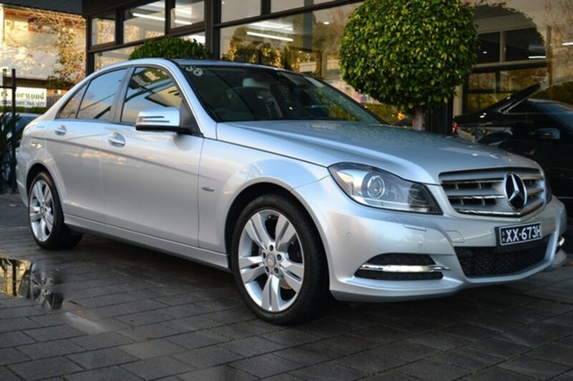 Used Mercedes-Benz C200 CDI W204 MY11 BlueEFFICIENCY 7G-Tronic +, 2011 Mercedes-Benz C200 CDI W204 MY11 BlueEFFICIENCY 7G-Tronic + Silver 7 Speed Sports Automatic