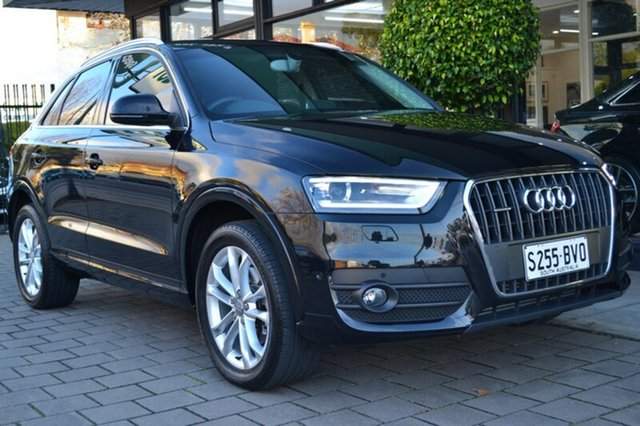 Used Audi Q3 8U MY14 TDI S tronic quattro, 2014 Audi Q3 8U MY14 TDI S tronic quattro Black 7 Speed Sports Automatic Dual Clutch Wagon