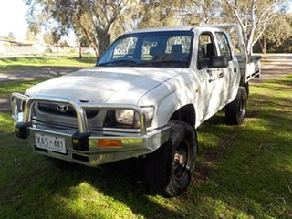2004 Toyota Hilux LN167R MY02 White 5 Speed Manual Utility