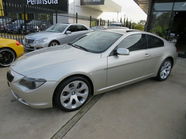 Used BMW 645Ci E63 , 2005 BMW 645Ci E63 Mineral Silver 6 Speed Auto Steptronic Coupe