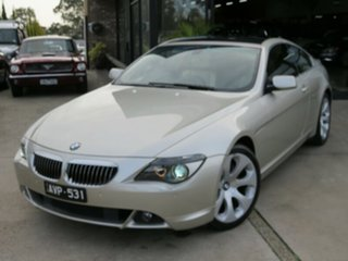 2005 BMW 645Ci E63 Mineral Silver 6 Speed Auto Steptronic Coupe.