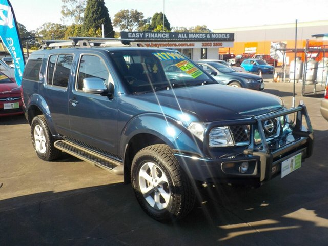 Used Nissan Pathfinder R51 MY07 ST-L (4x4), 2009 Nissan Pathfinder R51 MY07 ST-L (4x4) Blue 5 Speed Automatic Wagon
