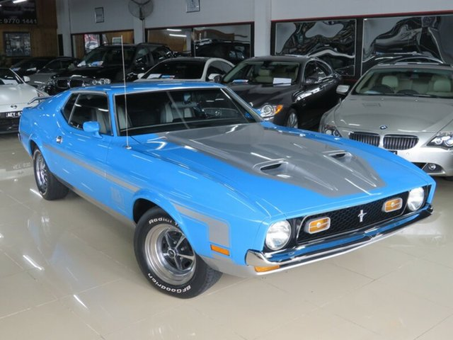 Used Ford Mustang  Fastback, 1972 Ford Mustang Fastback Grabber Blue 3 Speed Automatic Fastback