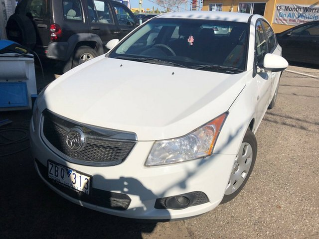 Used Holden Cruze JH MY12 CD, 2012 Holden Cruze JH MY12 CD White 6 Speed Automatic Sedan