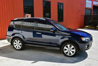 2010 Mitsubishi Outlander ZH MY10 XLS Blue 6 Speed Constant Variable Wagon
