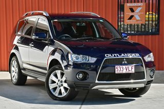 2010 Mitsubishi Outlander ZH MY10 XLS Blue 6 Speed Constant Variable Wagon.