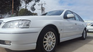 2005 Ford Fairlane BA Ghia White 4 Speed Sports Automatic Sedan