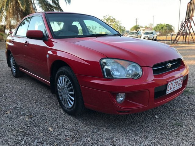 Used Subaru Impreza S MY05 GX AWD, 2004 Subaru Impreza S MY05 GX AWD Red 4 Speed Automatic Sedan