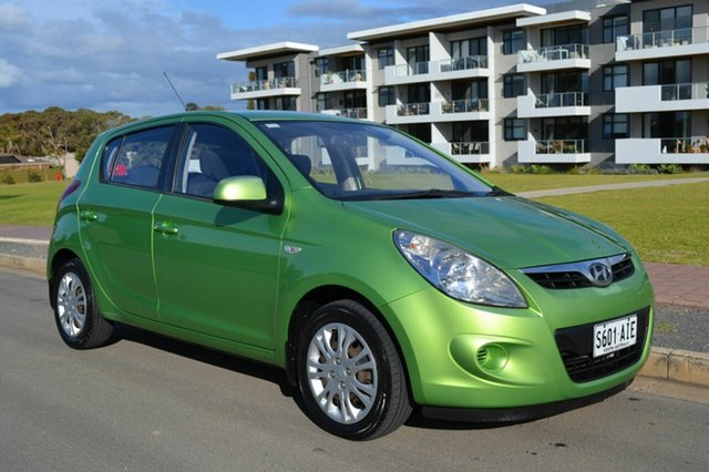Used Hyundai i20 PB Active, 2010 Hyundai i20 PB Active Green 5 Speed Manual Hatchback