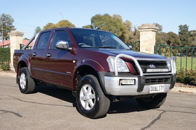 Used Holden Rodeo RA LT, 2003 Holden Rodeo RA LT Burgundy 5 Speed Manual Crew Cab Pickup