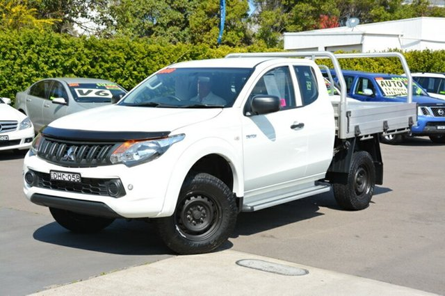 Used Mitsubishi Triton MQ MY16 GLX Club Cab, 2016 Mitsubishi Triton MQ MY16 GLX Club Cab White 6 Speed Manual Cab Chassis