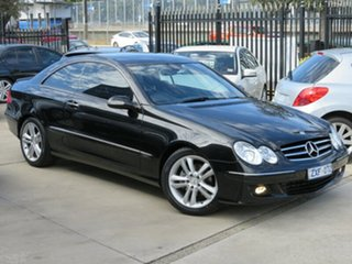 2006 Mercedes-Benz CLK200K C209 MY06 Elegance Black Crystal 5 Speed Auto Touchshift Coupe.